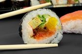 Japanese sushi and sticks composition — Stock Photo
