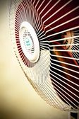 Floor type cooling fan in sepia — Stock Photo