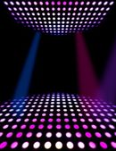 Dance floor disco poster background — Stock Photo