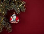 Christmas composition with Santa — Stock Photo