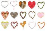 Samling av hjärtan — Stockfoto
