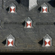 Symmetric dormers — Stock Photo