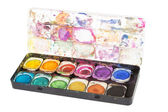 Old paintbox — Stock Photo