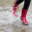 Gum boots in the rain — Stock Photo #10598652
