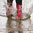 Gum boots in the rain — Stock Photo #10598674