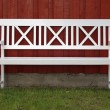 White bench — Stock Photo