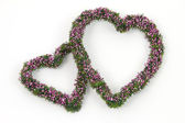 Two decoration hearts — Stock Photo