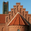 Gable of a church — Stock Photo