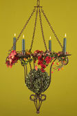 Burning candlestick — Stock Photo