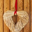 图库照片: Heart made of straw
