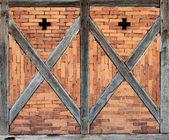 Frente de marco de madera — Foto de Stock