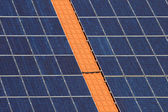 Solar cells on a roof — Stock Photo