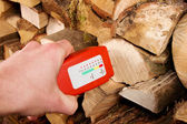Wood moisture meter — Stock Photo