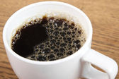 Cup of coffee closeup — Stock Photo