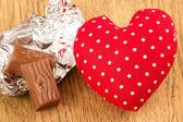 巧克力的心 — 图库照片