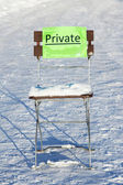 Chair in the snow — Stock Photo