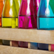 Colorful bottles - 图库照片