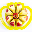 Apple in divider — Stock Photo