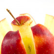 Closeup divided apple — Stock Photo #9182544