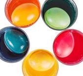 Dye Easter eggs — Stock Photo