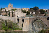 Bridge of San Martin, Toledo, Castilla la Mancha, Spain — Stock Photo