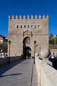 Bridge of San Martin, Toledo, Castilla la Mancha, Spain — Stock Photo