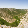 Panoramic of Cañon del rio Lobos, Soria, Castilla y Leon, Spain - Stock Photo