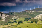 Wind generators in Estacas de Trueba, Burgos, Castilla y Leon, Spain — Stock Photo