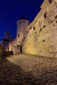Walls of Carcassonne dark — Stock Photo