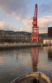 Кран в Бильбао, Бискайя, Испания — Стоковое фото