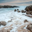Stock Photo: Nightfall in Liencres, Cantabria, Spain