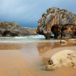 Stock Photo: Beach of Cuevas del Mar, Nueva de Llanes, Asturias, Spain