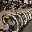 Stock Photo: Bikes in Paris, France