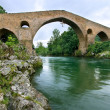 Roman bridge of Cangas de Onis, Asturias, Spain — Stock Photo