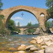 Bridge of Cangas de Onis, Asturias, Spain — Stock Photo
