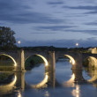 Getting dark in the Pont Vieux, Carcassonne, France — Stock Photo