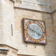 Clock of the cathedral in Leon — Stock Photo #7988026