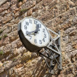 Limoux church clock (France) — Stock Photo #7988049