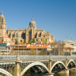 View of Salamanca, Castilla y Leon (Spain) - Stock Photo