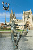 Pilgrim in Burgos, Castilla y Leon, Spain — Stock Photo