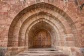 Gate of the monastery of Valvanera, La Rioja, Spain — Stock Photo