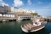 Port of Malpica, La Coruña, Galicia, Spain — Stock Photo