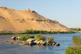 Aswan, mısır'da nil nehri — Stok fotoğraf