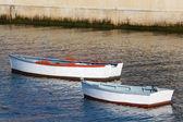 лодки в фигерасе, астурия, испания — Стоковое фото