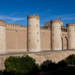 Aljaferia palace, Zaragoza, Aragon, Spain - Stock Photo