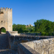 Roman bridge, Frias, Burgos, Castilla y Leon, Spain — Stock Photo