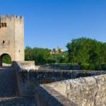 Roman bridge, Frias, Burgos, Castilla y Leon, Spain — Stock Photo
