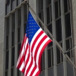 Flag in Wall Street, New York, USA — Stock Photo