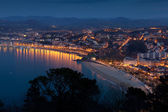 Panoramic of San Sebastian, Gipuzkoa, Spain — Stock Photo