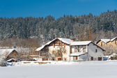 Snow in Zarate, Alava, Basque Country, Spain — Stock Photo